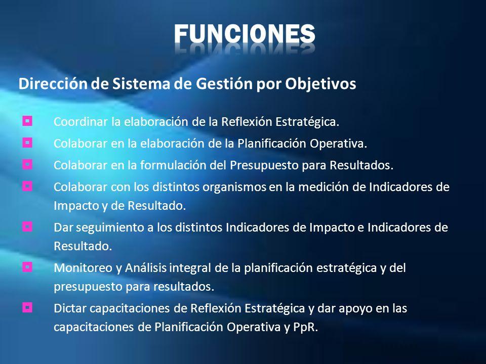 Coordinar la elaboración de la Reflexión Estratégica. Colaborar en la elaboración de la Planificación Operativa. Colaborar en la formulación del Presu