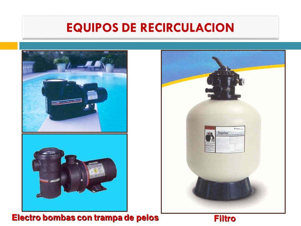 Electro bombas con trampa de pelos Filtro