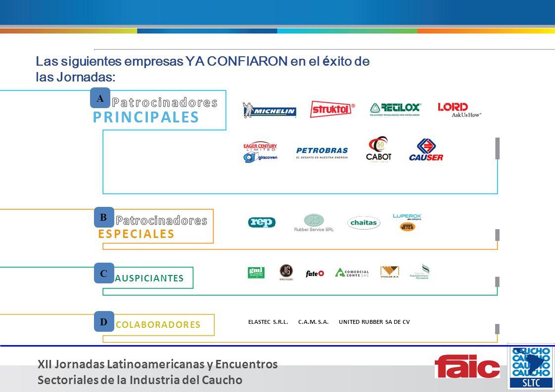 XII Jornadas Latinoamericanas y Encuentros Sectoriales de la Industria del Caucho ELASTEC S.R.L.