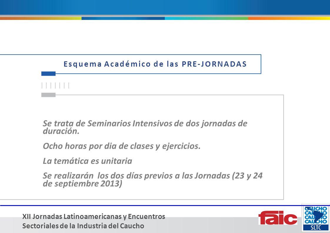 XII Jornadas Latinoamericanas y Encuentros Sectoriales de la Industria del Caucho CONTACTO: Carlos Keipert cakeipert@yahoo.com.ar +54 11 4918-0360/7508/3185 www.sltcaucho.org ¿CONTAMOS TAMBIÉN CON SU EMPRESA?