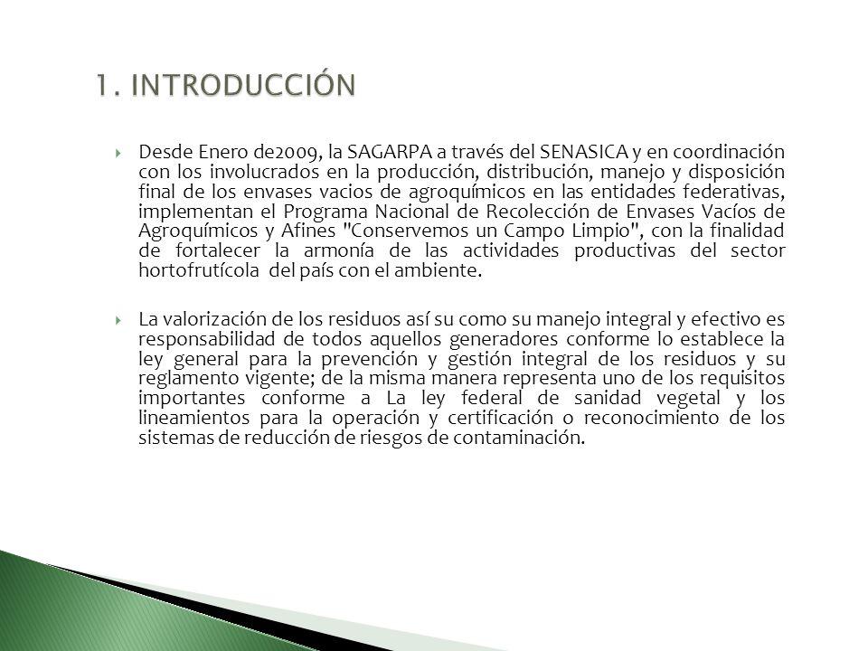 Desde Enero de2009, la SAGARPA a través del SENASICA y en coordinación con los involucrados en la producción, distribución, manejo y disposición final
