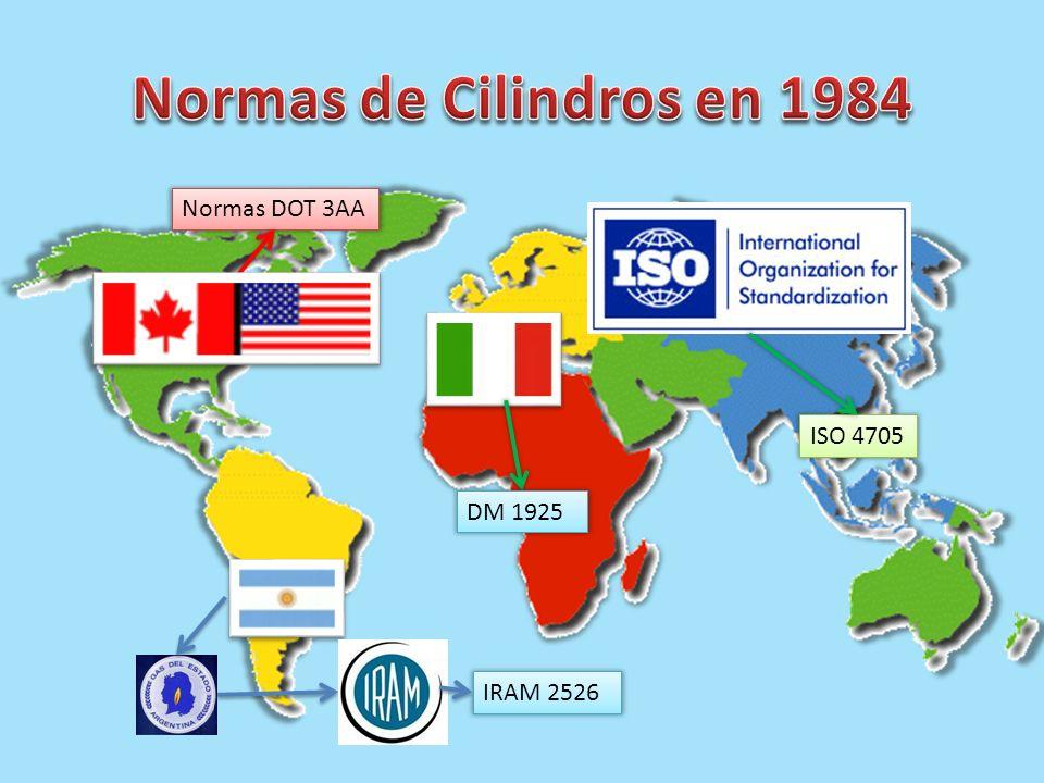 ISO 4705 Normas DOT 3AA DM 1925 IRAM 2526