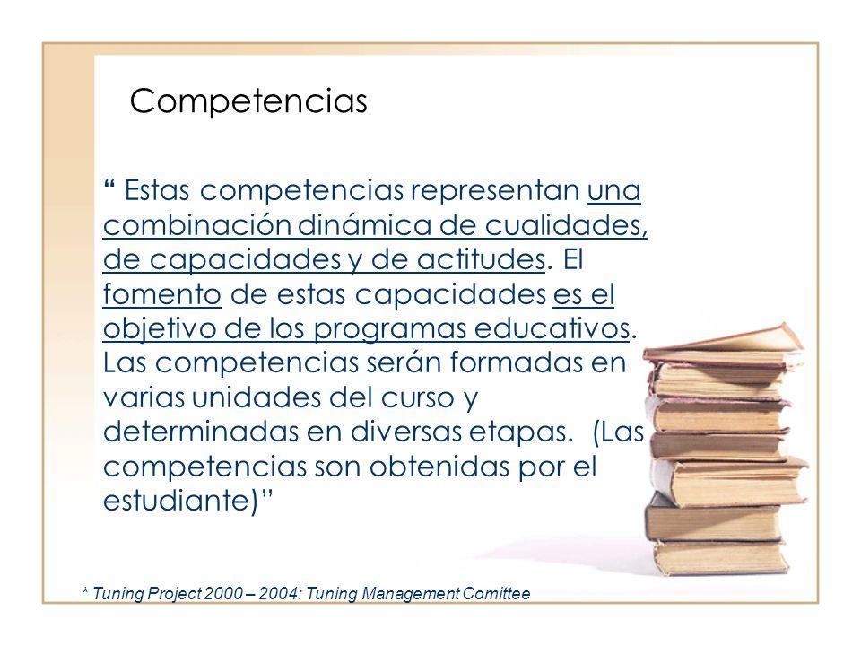 Estas competencias representan una combinación dinámica de cualidades, de capacidades y de actitudes. El fomento de estas capacidades es el objetivo d