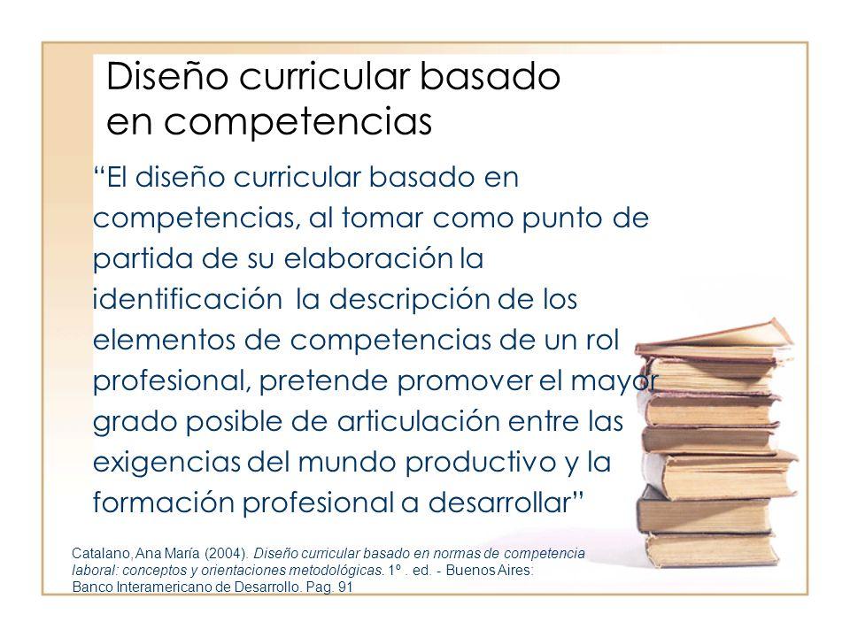 El diseño curricular basado en competencias, al tomar como punto de partida de su elaboración la identificación la descripción de los elementos de com