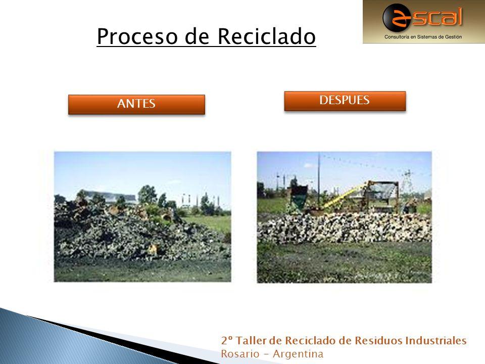 Material: Magnesitico para reutilización Material: Finos para utilizar en rellenos 2º Taller de Reciclado de Residuos Industriales Rosario - Argentina Material:Silico Aluminoso para reutilización
