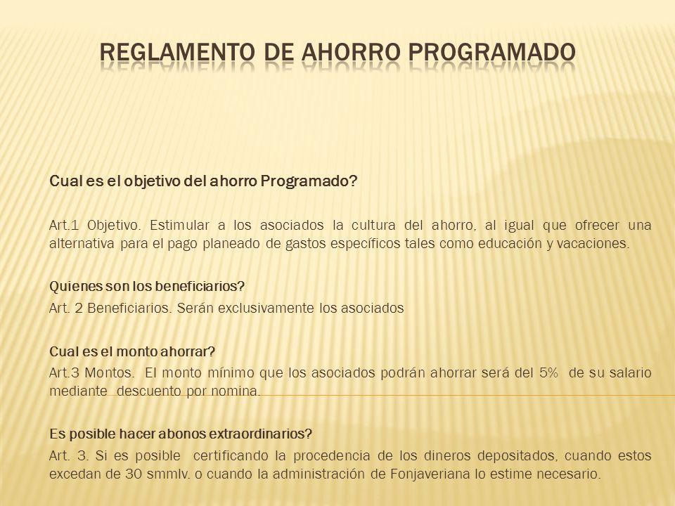 Como se constituye el Ahorro Programado.Art.4 Constitución.