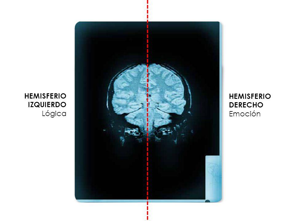 HEMISFERIO DERECHO Emoción HEMISFERIO IZQUIERDO Lógica