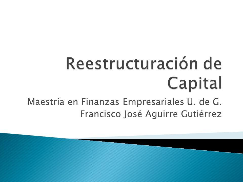 Maestría en Finanzas Empresariales U. de G. Francisco José Aguirre Gutiérrez