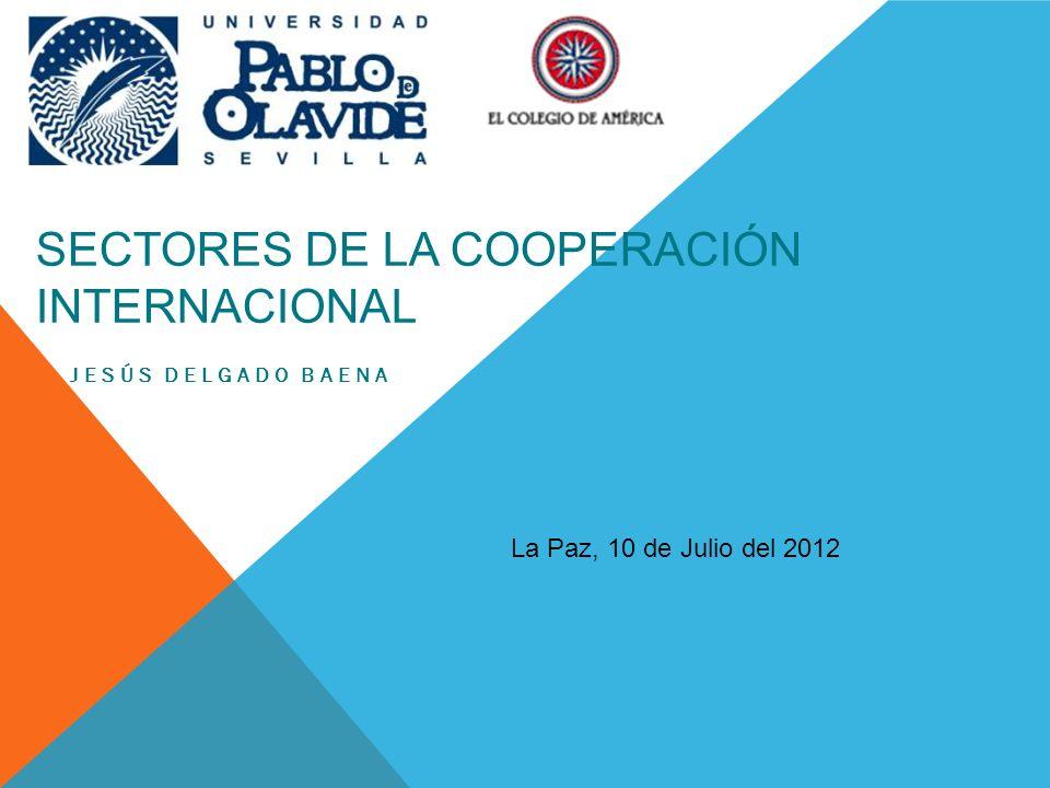 SECTORES DE LA COOPERACIÓN INTERNACIONAL JESÚS DELGADO BAENA La Paz, 10 de Julio del 2012