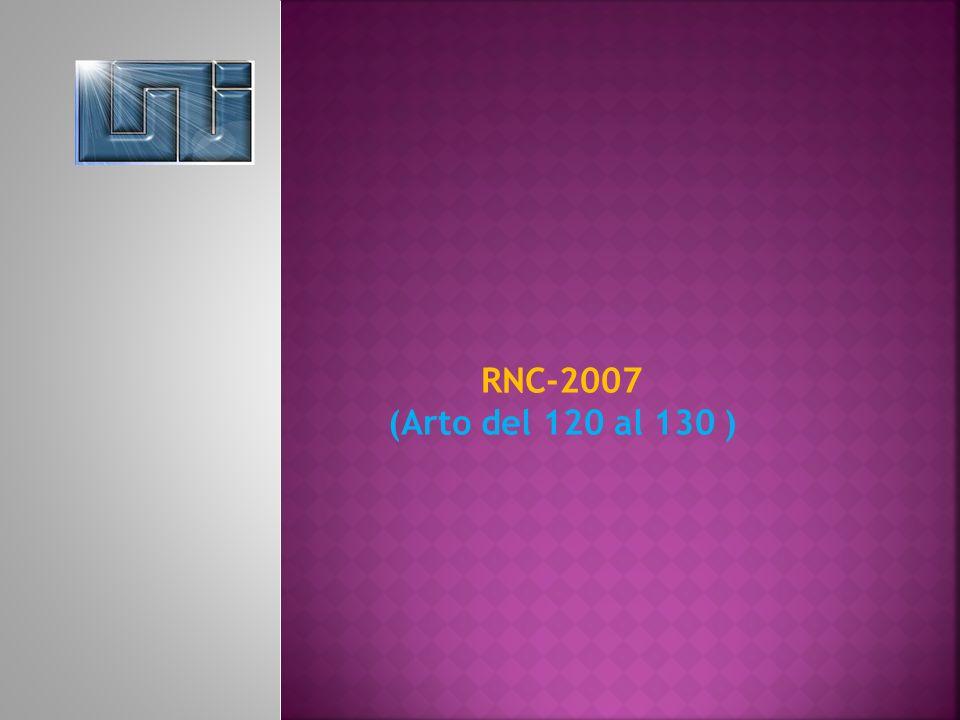RNC-2007 (Arto del 120 al 130 )