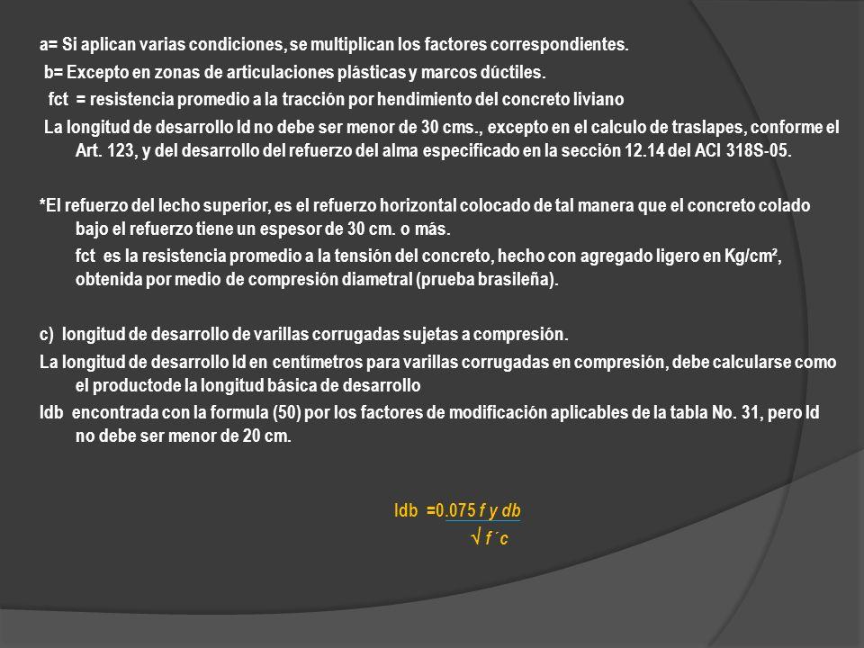 a= Si aplican varias condiciones, se multiplican los factores correspondientes.