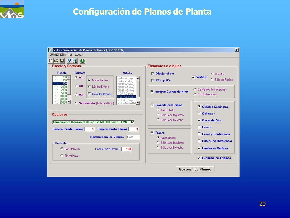 Configuración de Planos de Planta 20