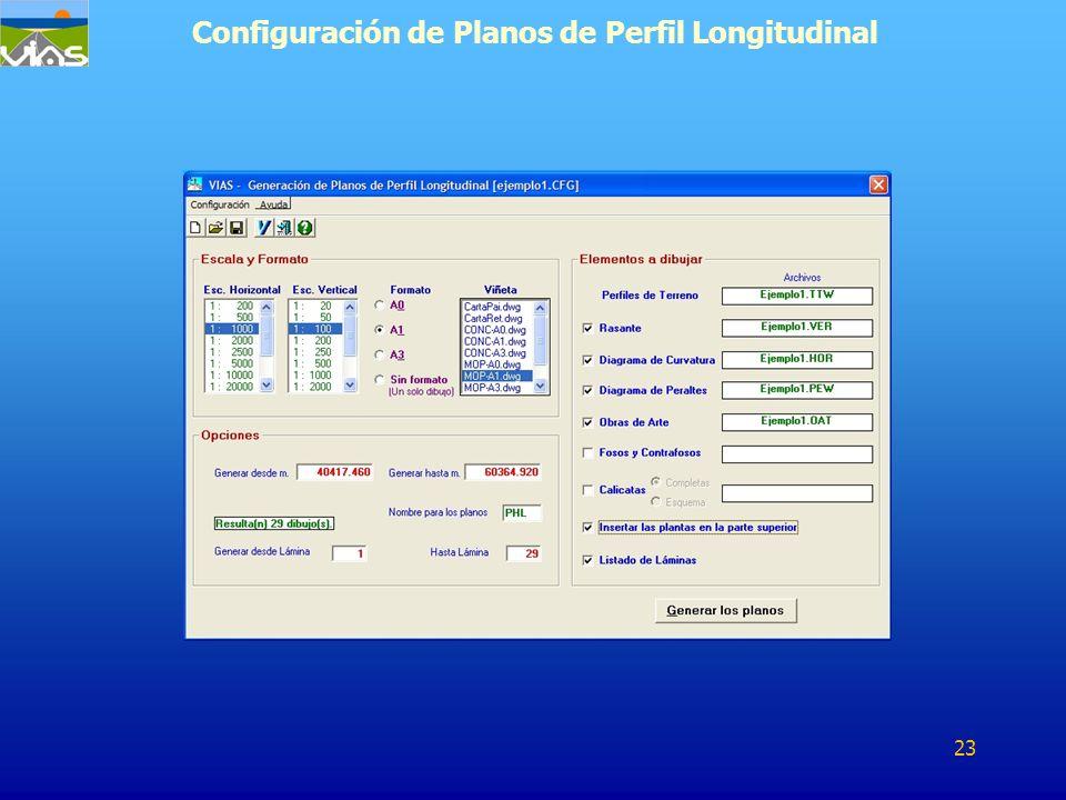 Configuración de Planos de Perfil Longitudinal 23
