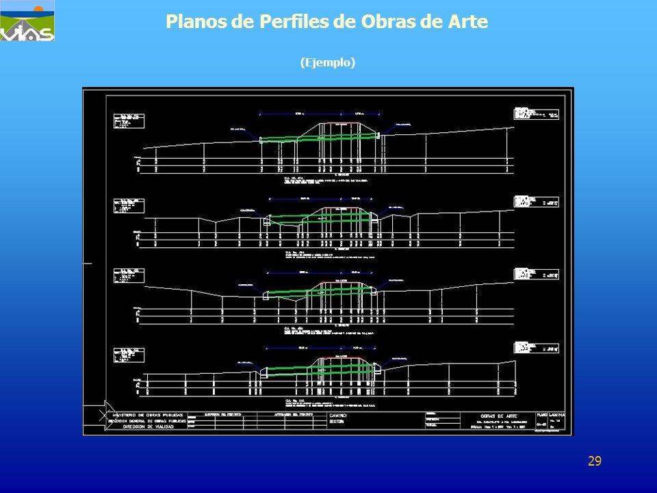 Planos de Perfiles de Obras de Arte (Ejemplo) 29