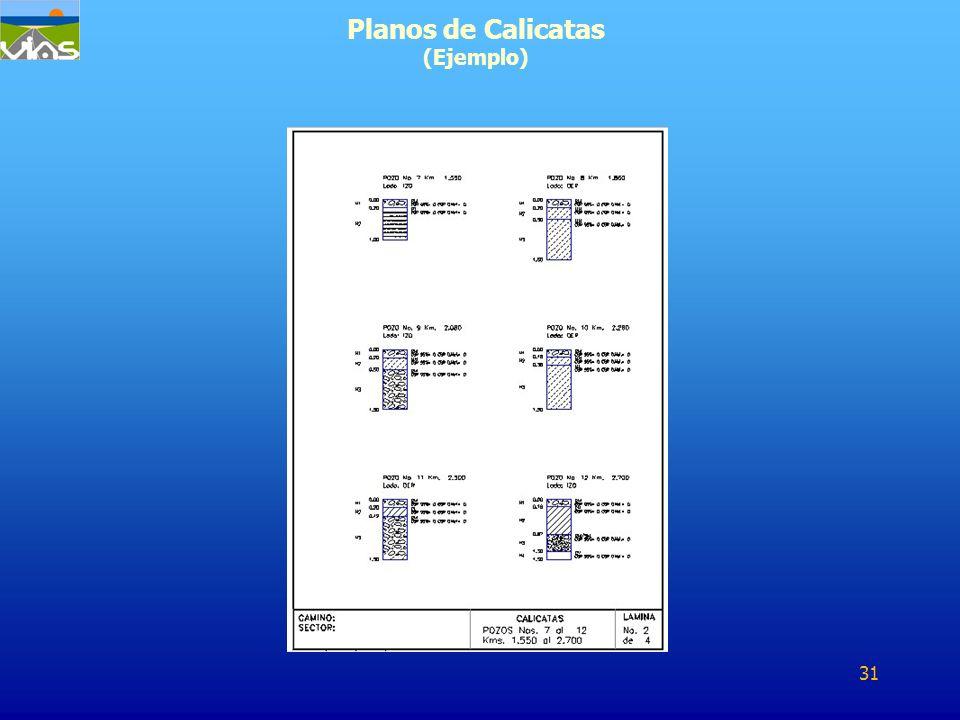 Planos de Calicatas (Ejemplo) 31