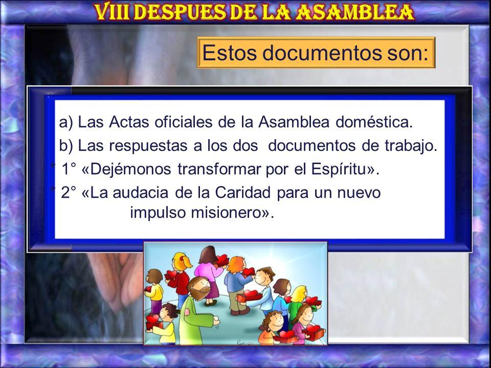 La Secretaria prepara un segundo ejemplar de los diferentes documentos de trabajo, aprobados por la Asamblea doméstica.
