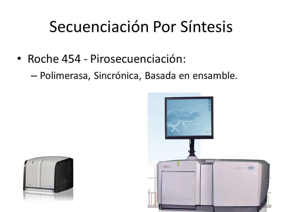 Secuenciación Por Síntesis Roche 454 - Pirosecuenciación: – Polimerasa, Sincrónica, Basada en ensamble.