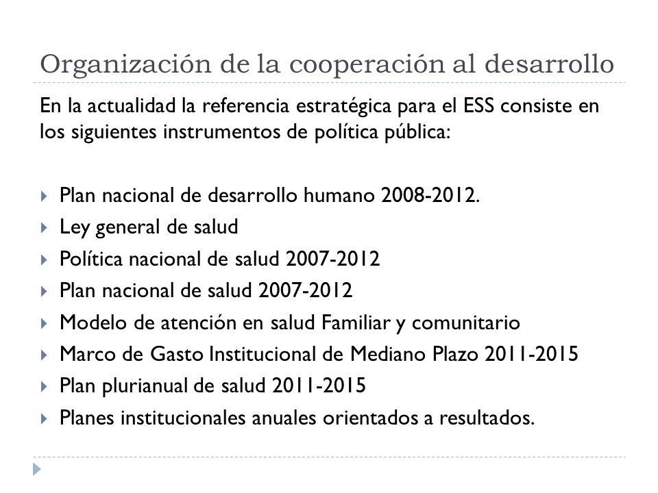 En la actualidad la referencia estratégica para el ESS consiste en los siguientes instrumentos de política pública: Plan nacional de desarrollo humano