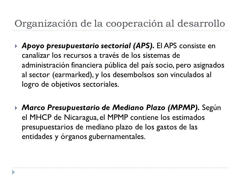 Apoyo presupuestario sectorial (APS). El APS consiste en canalizar los recursos a través de los sistemas de administración financiera pública del país