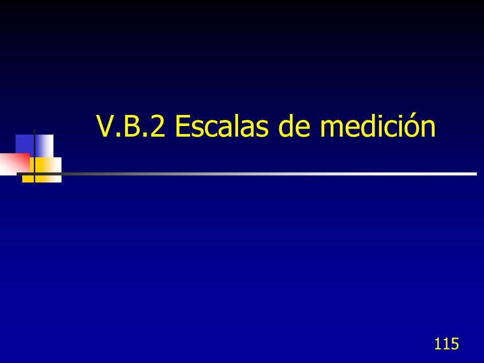 115 V.B.2 Escalas de medición