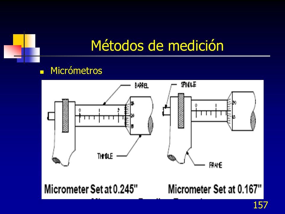 157 Métodos de medición Micrómetros