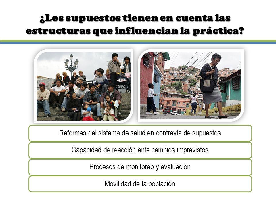 ¿Los supuestos tienen en cuenta las estructuras que influencian la práctica?