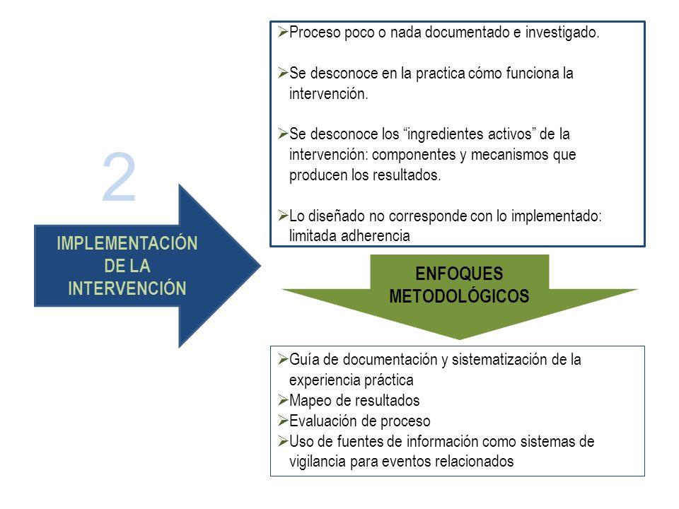 Guía de documentación y sistematización de la experiencia práctica Mapeo de resultados Evaluación de proceso Uso de fuentes de información como sistem