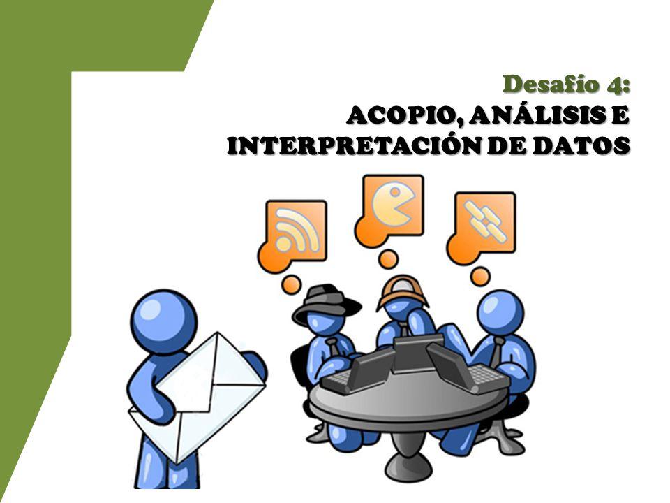 Desafío 4: ACOPIO, ANÁLISIS E INTERPRETACIÓN DE DATOS