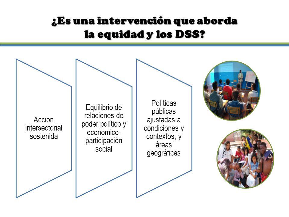 ¿Es una intervención que aborda la equidad y los DSS?