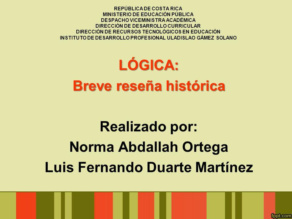 INDICE TEMÁTICO: Proyecto Lógica en la enseñanza del Español El Equipo Nacional de Lógica.