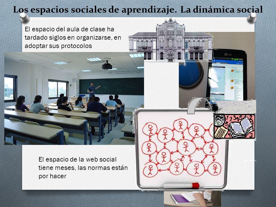 Los espacios sociales de aprendizaje.