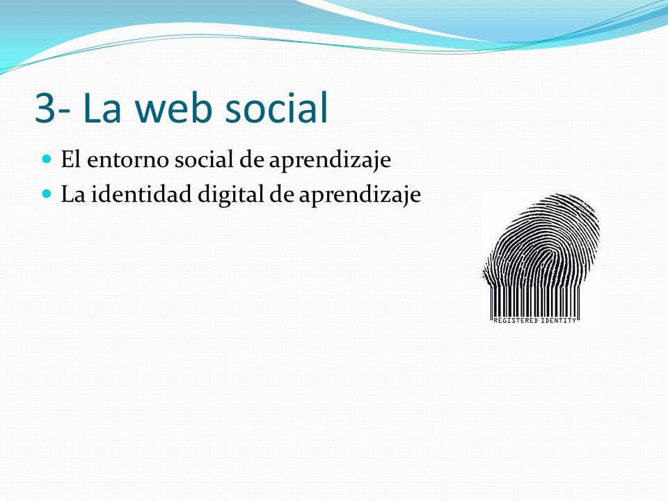 3- La web social El entorno social de aprendizaje La identidad digital de aprendizaje