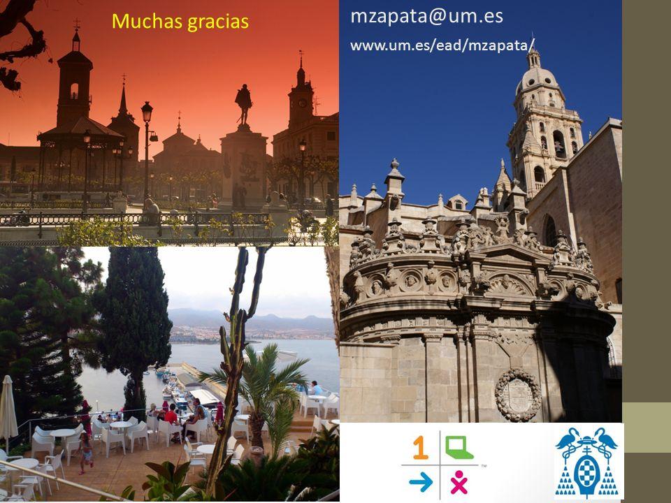 Muchas gracias mzapata@um.es www.um.es/ead/mzapata/