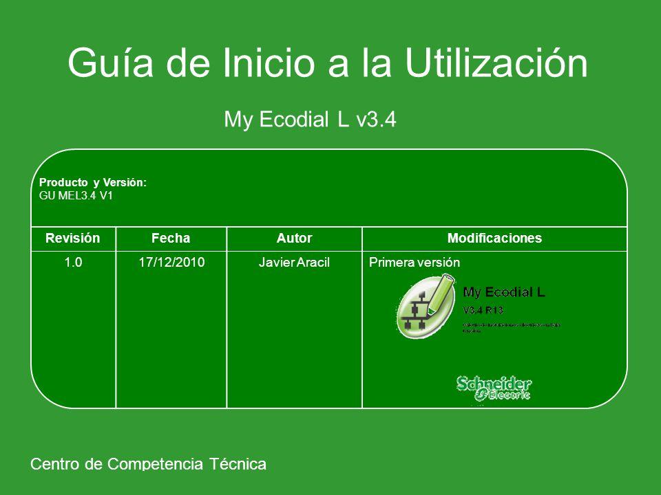 My Ecodial L v3.4 1º Ámbito de Aplicación 2º Parametrización 3º Ejemplo Paso a Paso 4º Impresión / Exportación 5º Curvas de Disparo 6º Guía de Productos / Guía de Asociaciones