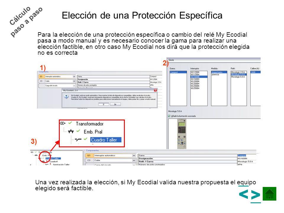 Elección de una Protección Específica Para la elección de una protección específica o cambio del relé My Ecodial pasa a modo manual y es necesario con