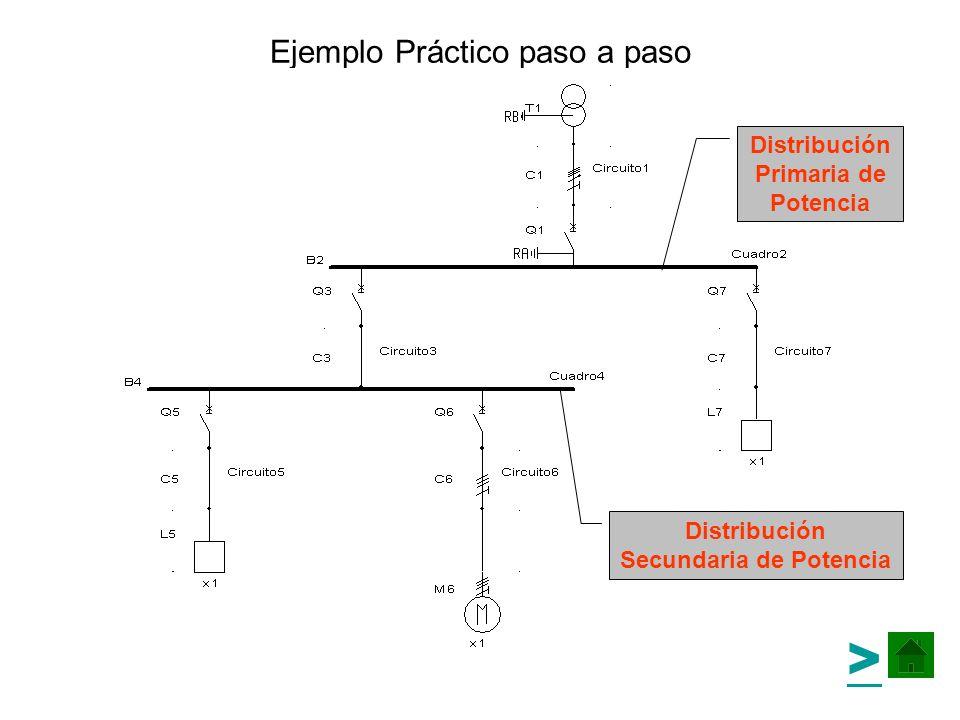 Métodos de Cálculo: Cálculo paso a paso El mejor método de cálculo es el método de cálculo Paso a paso (F5), con este método se visualiza la arborescencia completa de la instalación, se hace un balance de potencias automático y es posible localizar fácilmente cualquier incidencia en el cálculo del esquema.