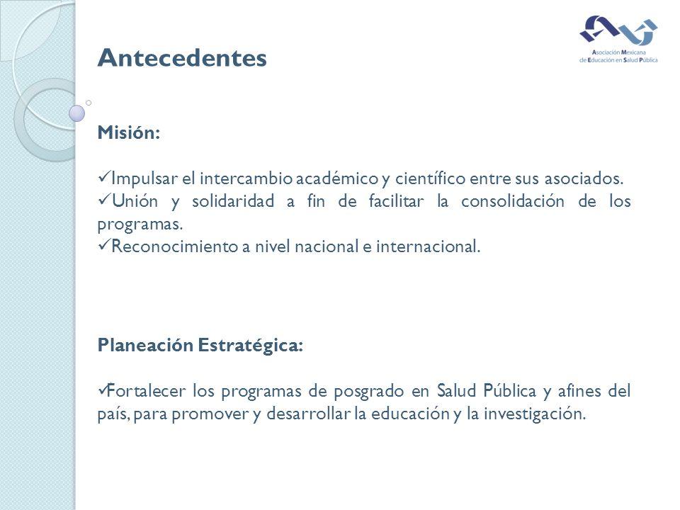 Misión: Impulsar el intercambio académico y científico entre sus asociados.