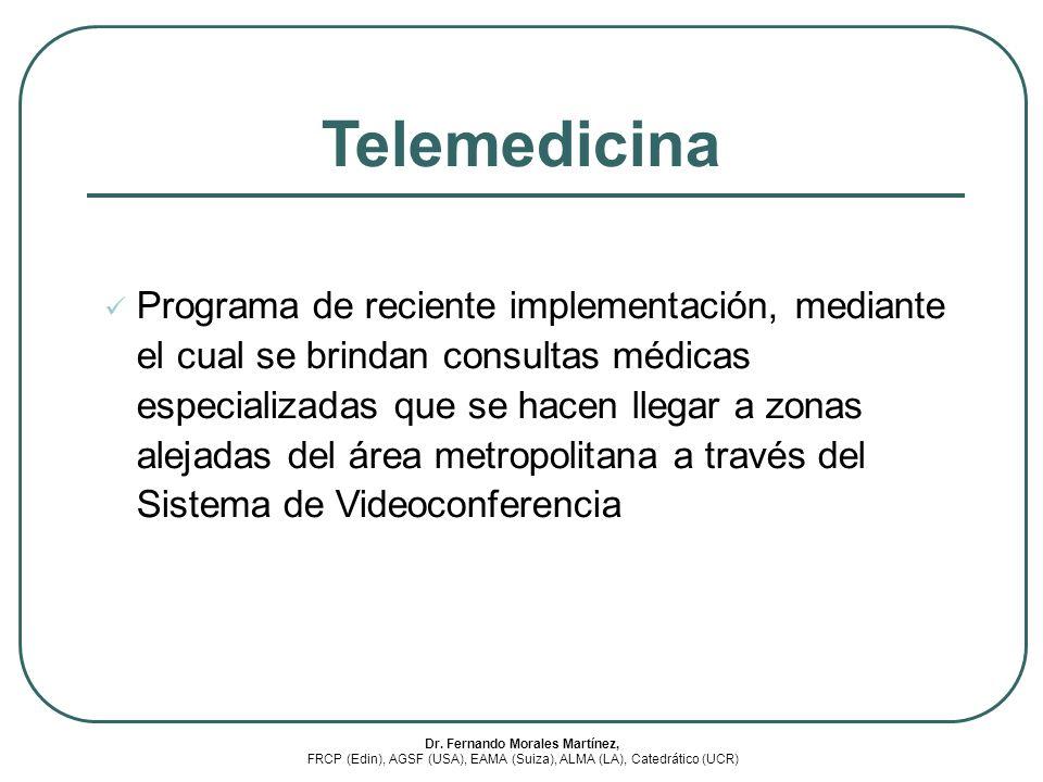 Programa de reciente implementación, mediante el cual se brindan consultas médicas especializadas que se hacen llegar a zonas alejadas del área metrop