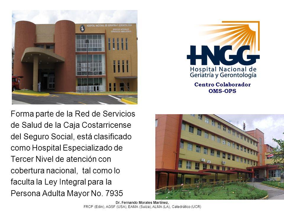 Forma parte de la Red de Servicios de Salud de la Caja Costarricense del Seguro Social, está clasificado como Hospital Especializado de Tercer Nivel d