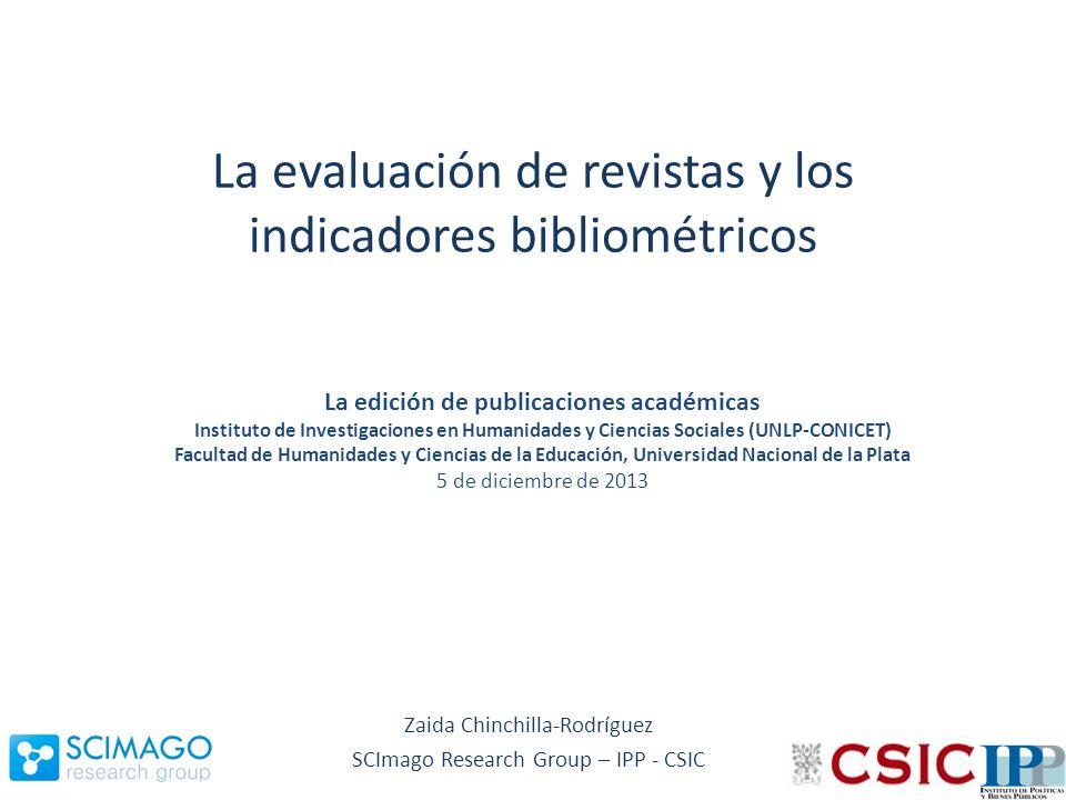 Objetivos Describir la presencia y visibilidad de la investigación argentina en Scopus y sus características Estrategias para mejorar la visibilidad, difusión y los criterios para homologarse a estándares internacionales La función y utilidad de los indicadores en el diagnóstico y seguimiento del proceso de calidad editorial