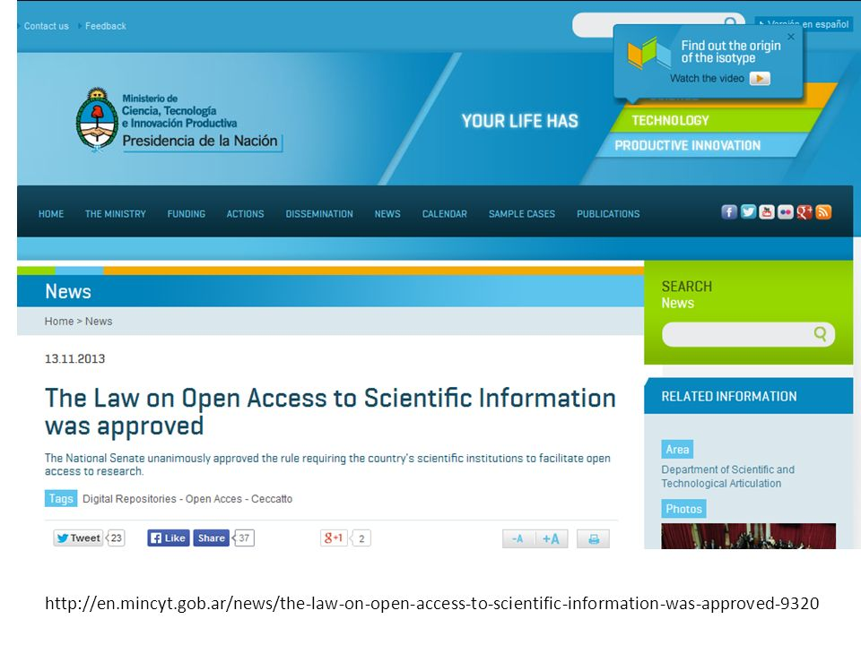 http://en.mincyt.gob.ar/news/the-law-on-open-access-to-scientific-information-was-approved-9320
