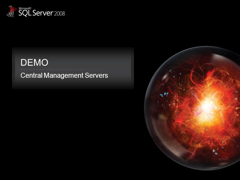 DEMO Central Management Servers