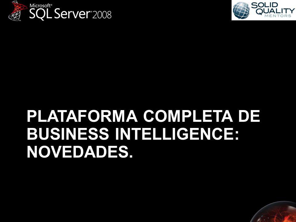 PLATAFORMA COMPLETA DE BUSINESS INTELLIGENCE: NOVEDADES.