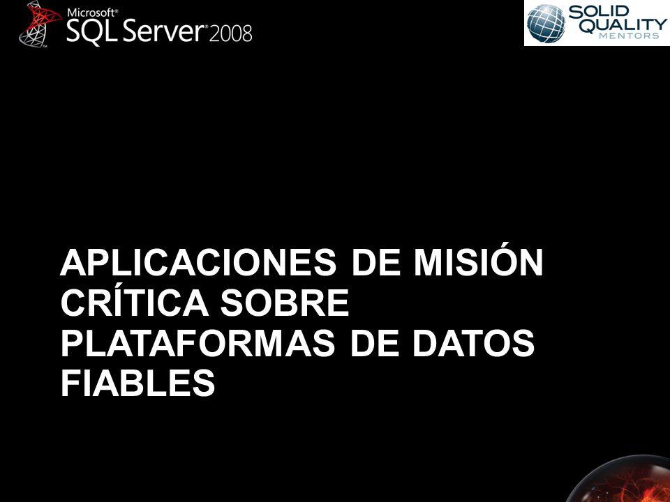 Servidores de Administración Centralizada Administración de múltiples servidores mediante –Designación de servidores de Administración –Creación de grupos de servidores Ejecuta lo mismo contra grupos de servidores –Sentencias T-SQL –Políticas del Framework de Administración Declarativa