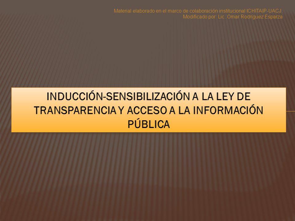 Material elaborado en el marco de colaboración institucional ICHITAIP-UACJ. Modificado por: Lic. Omar Rodríguez Esparza