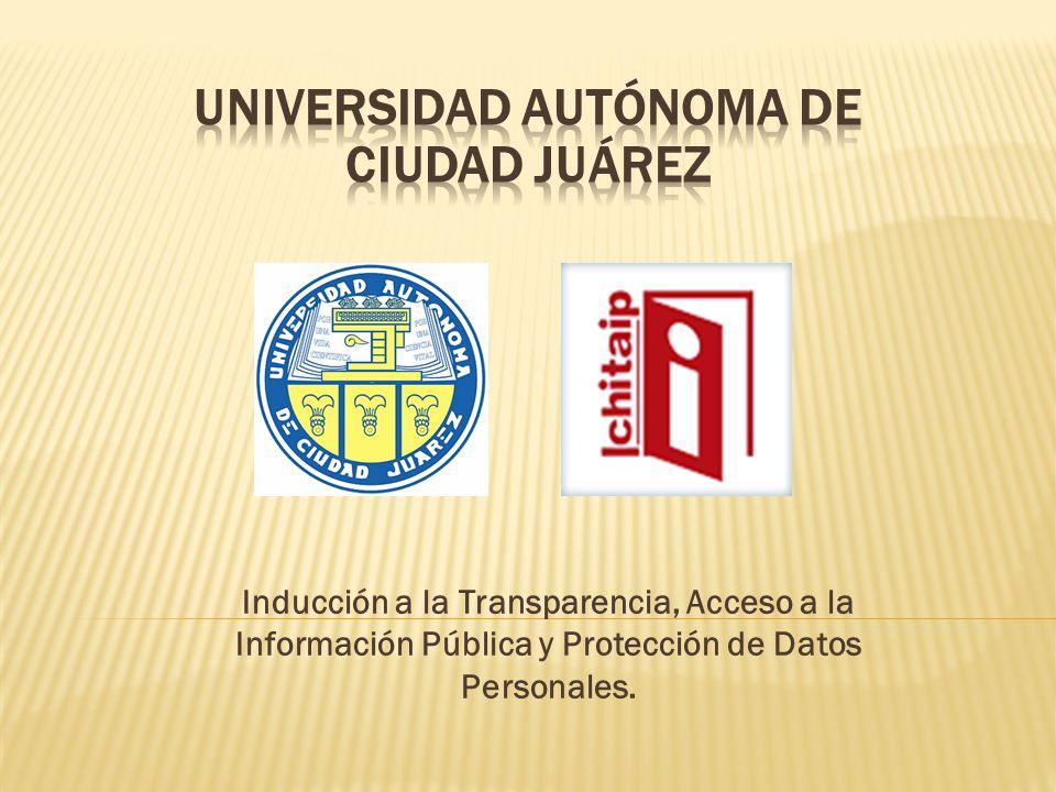 Inducción a la Transparencia, Acceso a la Información Pública y Protección de Datos Personales.
