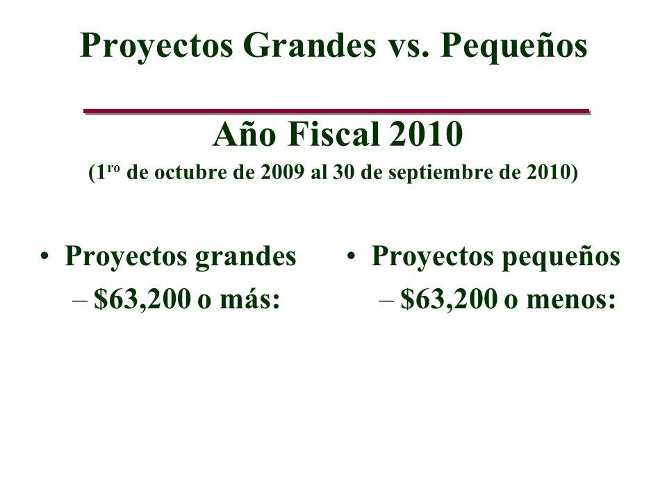 Proyectos Grandes vs.