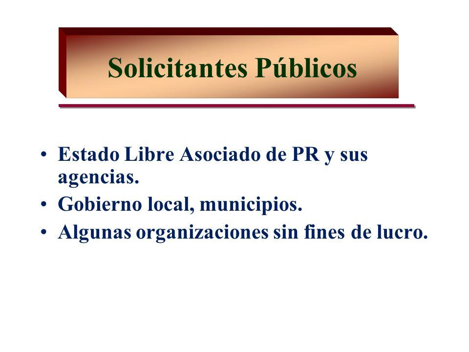 Estado Libre Asociado de PR y sus agencias. Gobierno local, municipios.