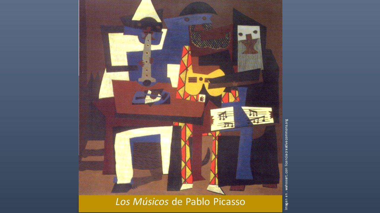 Los Músicos de Pablo Picasso Imagen en. wahooart..con licencia creativecommons.org