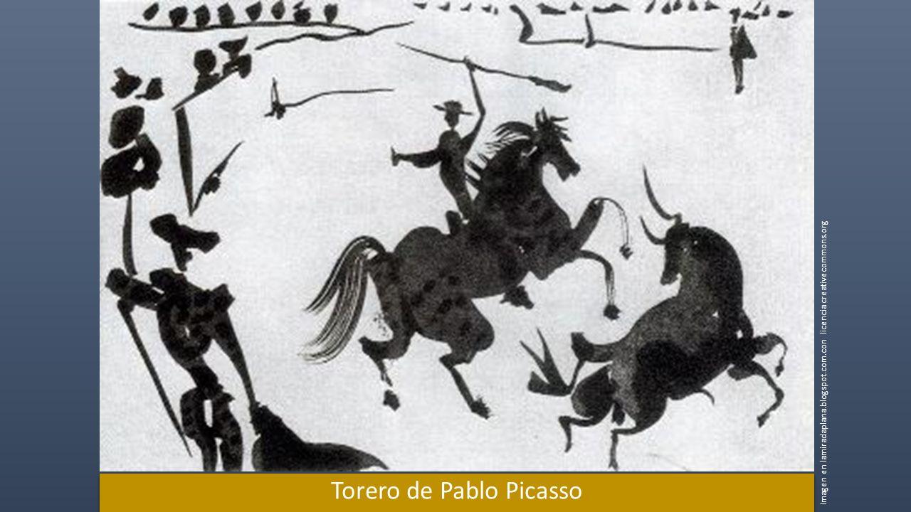 Torero de Pablo Picasso Imagen en lamiradaplana.blogspot.com.con licencia creativecommons.org